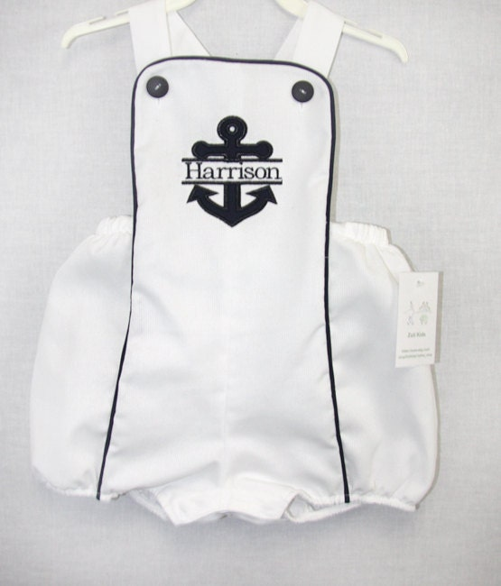 Sunsuits Nautical Beach Outfit Baby Boy Clothes Toddler