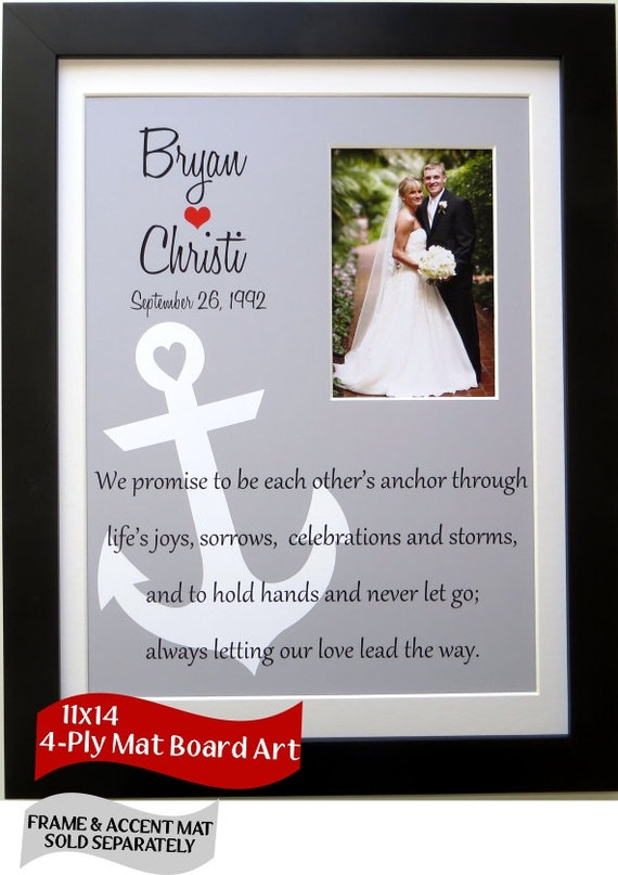 Custom Wedding Gift Personalized For Couple Anchor By Picmats