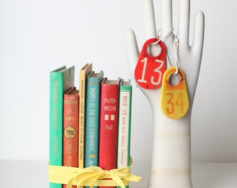 Orange, Green, Red and Yellow Vintage Book Set