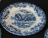English Ironstone Plates - Set of 5 Vintage Johnson Bros.