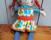 Handmade Rag Doll Farmer's Market Apron Braids by MellySueMade