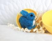 Tiny Totems: Miniature Needle Felted Bunny