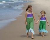 Girls Mermaid Halter Dress size 2T, 3T, 4T, 5, 6, 7, 8, 10, 12