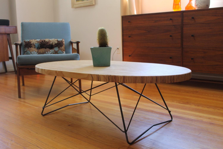mid century oval coffee table. Black Bedroom Furniture Sets. Home Design Ideas