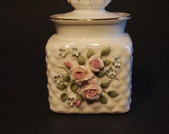 Lefton Porcelain Vanity Jar