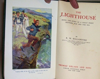 The Lighthouse by R. M. Ballantyne Illustrated by Arch Webb 1920