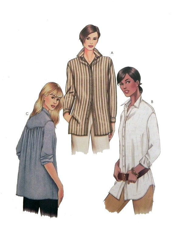 Button Down Dress Shirt Sewing Pattern Vogue By
