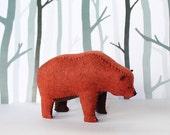 Grizzly Bear Soft Sculpture / Artist Bear / Woodland Decor / Nature Lover Gift / Felt Animal Bear