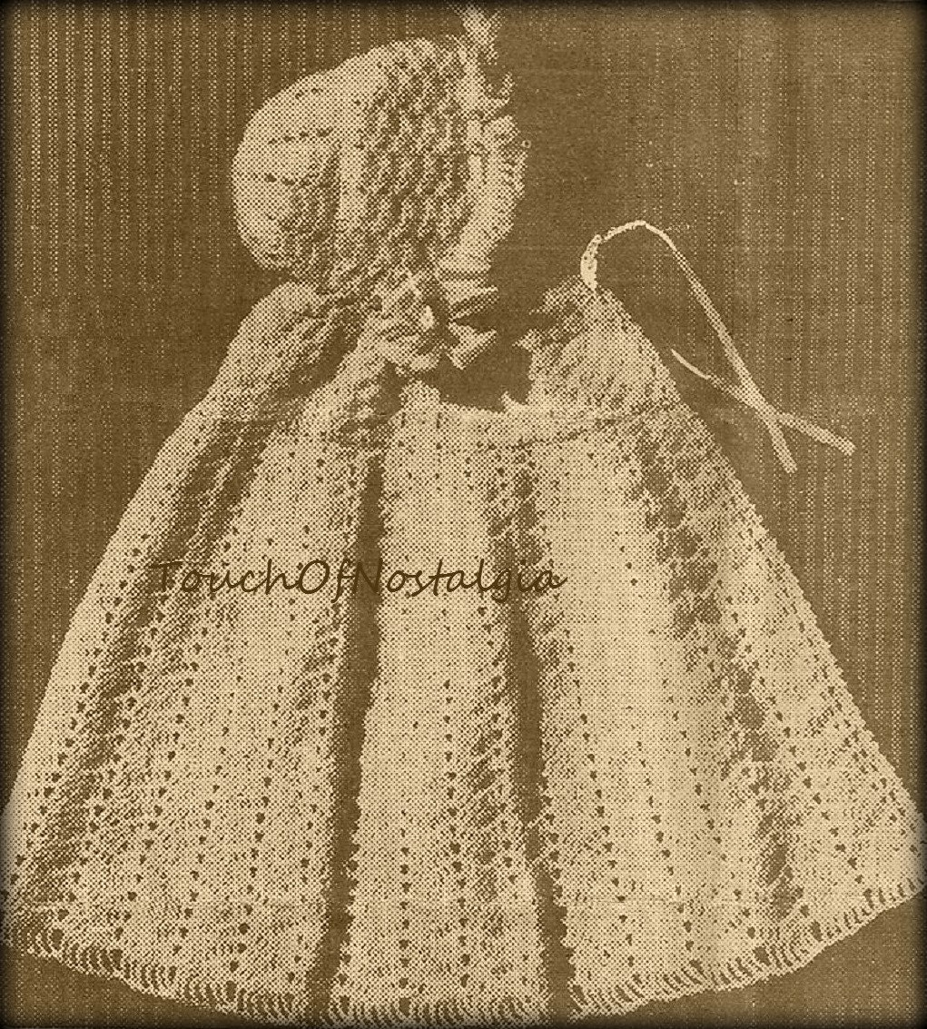 crochet hooded baby cape vintage crochet pattern circa 1930s. Black Bedroom Furniture Sets. Home Design Ideas