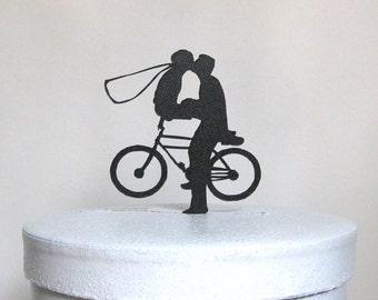 Wedding Cake Topper -Bicycle Wedding