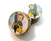 Rad Child! Inspired Plugs sizes 2g - 2 Inches Double Flare or Single Flare