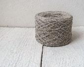 Boucle Linen Yarn 100% -  mixed boucle linen white&grey