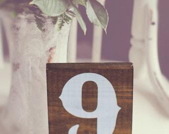Wedding Table Numbers, Table Number Wedding - Single Rustic Wedding Table Number - TB-18
