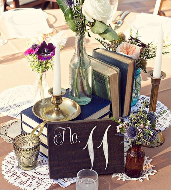 Wedding Table Numbers, Table Number Wedding, Rustic Table Number, Barn Wedding - Single Wedding Table Number - TB-4