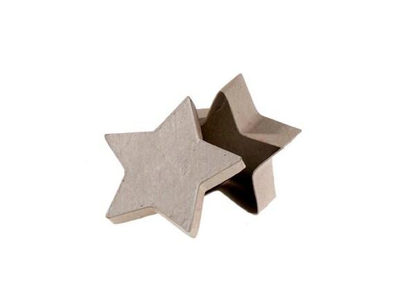 Star Shape Paper Mache Cardboard Box