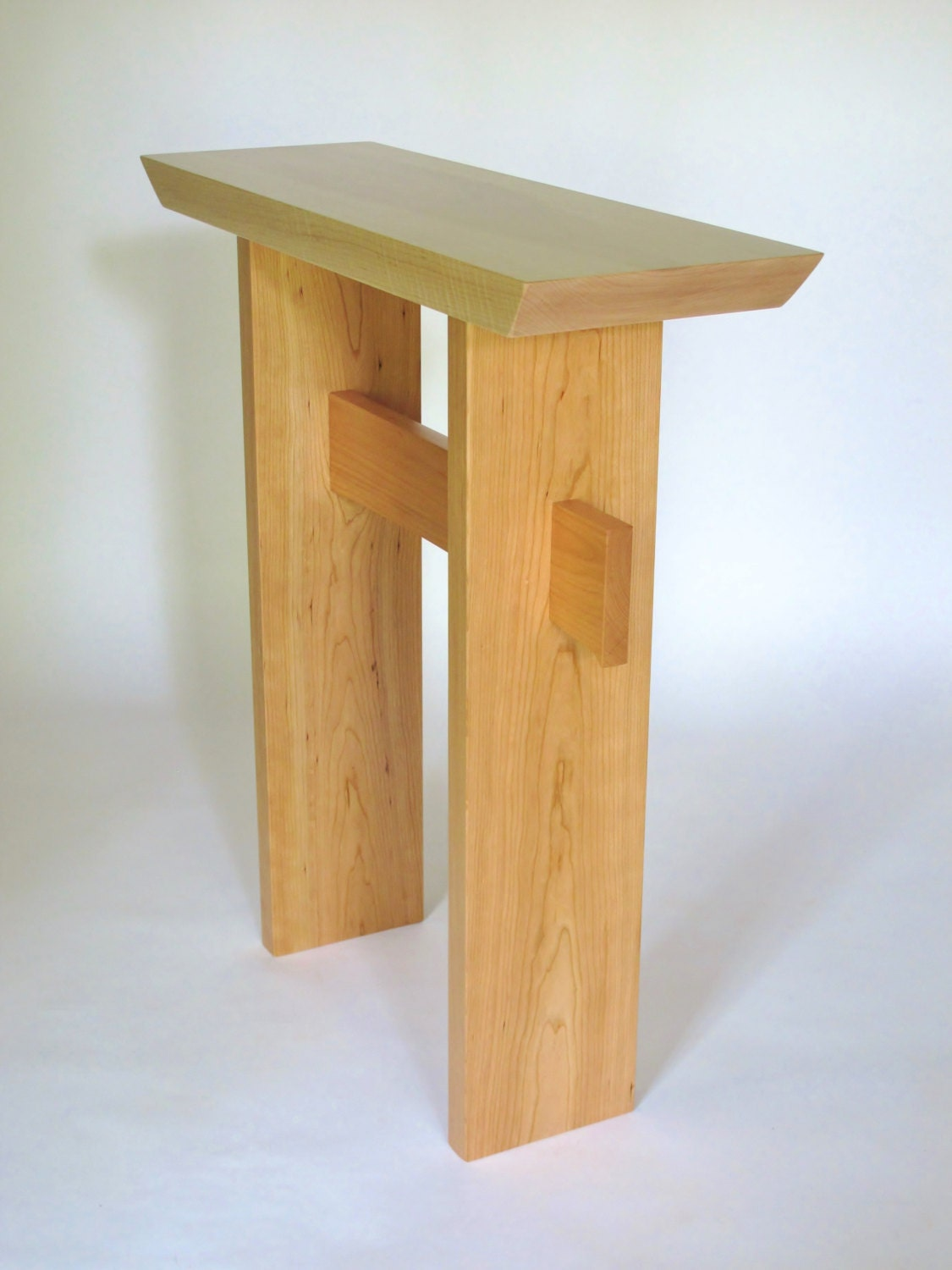 Side Table: Small Narrow Side Table Wood Entry Table Console Table