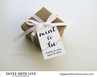 Mint to be Wedding Favor Tags - Wedding Favor Tags - Mint Wedding Favors - Candy Wedding Favors - Party Favors - Wedding Favor Idea - MEDIUM