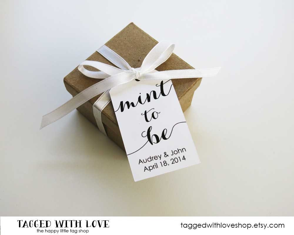 Mint to be wedding favor tags wedding favor tags mint for Small tags for wedding favors