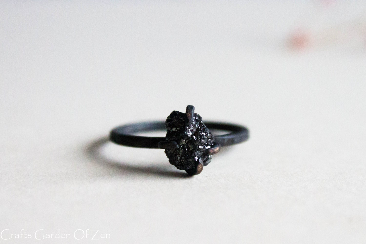 Alternative Engagement Ring Black Diamond Unique