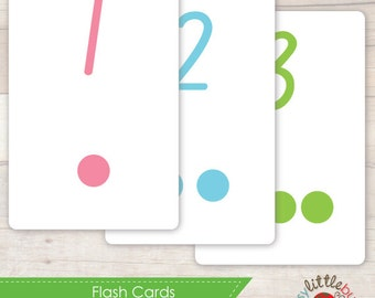 Printable Number Flash Cards AUTOMATIC DOWNLOAD