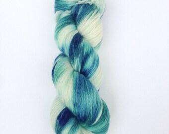 SALE Hand Dyed Sock Yarn, Knitting Yarn, Peruvian Highland Wool, 100g/440 yards, Preorder