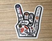 Rock n Roll Band Clear Sticker, 100% Waterproof Vinyl Sticker, Pop Culture Clear Sticker