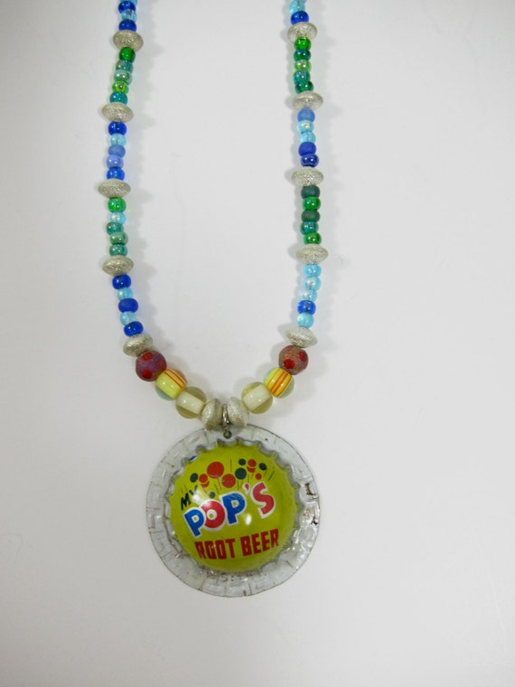 Items similar to root beer bottle cap charm and multi for Beer cap jewelry
