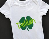Personalized Lucky Charm Clover Onesie