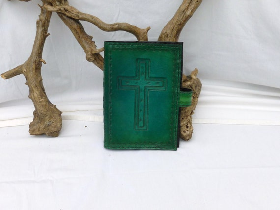 Bible Cover with an outlined wooden cross design (Custom made for your Bible)