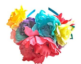 spring flower headpiece