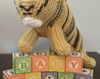 Knitted Tiger, Stuffed Animal