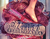 Zombie Halloween Wreath free shipping in USA