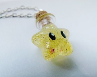 Super Mario Invincibility Star Bottle Necklace