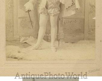 Handsome man actor in costume w sword antique photo
