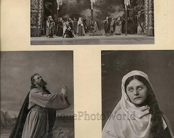 Passion Play Jesus on cross Mary 1890 3 photos