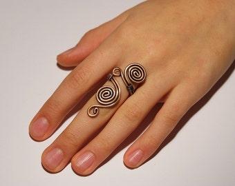 Wire jewelry / wire wrapped jewelry handmade / Copper Ring / Wire Wrapped Ring / copper jewelry / boho jewelry / rustic