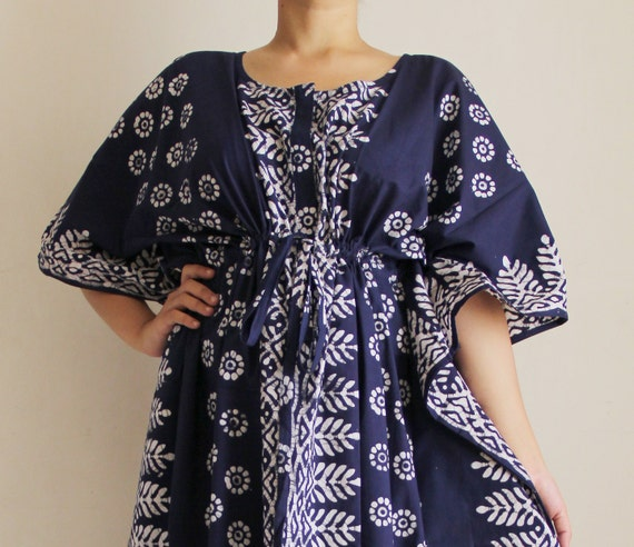 PLUS SIZE Maternity gown, baby shower dress, Cotton caftan, Maxi