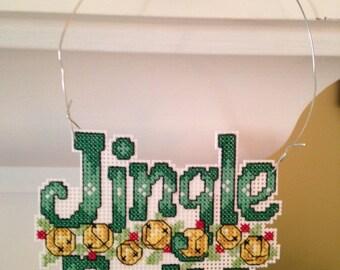 New Jingle Bells Christmas Cross Stitch Ornament