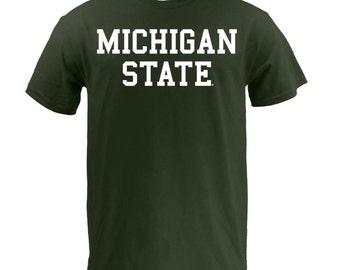 Michigan State Spartans Basic Block T Shirt