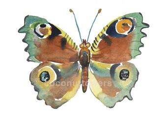 Children's Art - Butterfly - Size 8x10inches  -  Nursery Art Print