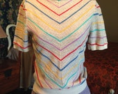 Trendy Vintage 1950's Lightweight Knitted Top