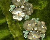 Vintage Signed Kramer Earrings Beautiful Flower Bouquets Reserved for Robbie