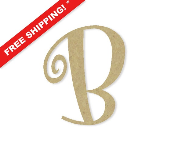 Decorative wooden letters b large or small unfinished by for Big wooden letter b