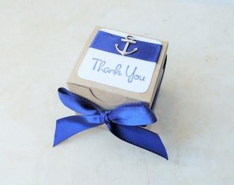 25 Nautical Favors, Favor Boxes, Anchor Favors, Anchor Wedidng Favors, 25 Boxes