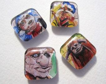 Little Labyrinth Four-Piece Magnet Set