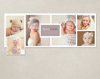 Facebook timeline cover template photo collage photos digital PSD FC014