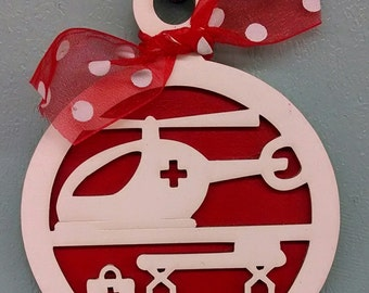 Air Medical Helicopter Ornament