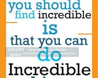 Inspiration, Quote Art Print, Home Decor, Wall Art, Cubicle Decor, Word Art Print, Inspirational Quote Print, Motivational Art Decor