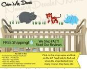 Jungle Animal Decals, Wall Decals, Boy Nursery Decal, Rhino, Tiger (Mini SG Tiger Set Only Jungle Joy) SGME