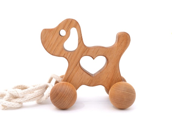 Wooden Pull Toy Wood Puppy toy for a Baby Toddler by ...